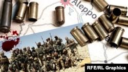 На фотоколлаже — группа предположительно российских наёмников из «ЧВК Вагнера» в Сирии. 2014–2015 годы.