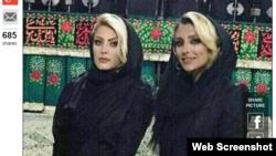 Elham Arab (sağda) İslam geyimi qaydalarını pozduğunu etiraf edib