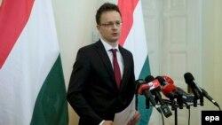 Унгарскиот министер за надворешни работи, Петер Сијарто.
