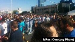 Во время одной из протестных акций репатриантов из Эфиопии