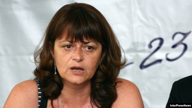 "Maia Miminoshvili has been fired as head of Georgia's examination center, apparently because of ""fundamental differences"" with the Education Ministry. (file photo)"