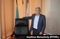 Председатель ОСДП Жармахан Туякбай. Алматы, 12 марта 2015 года.