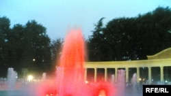 Gəncədə musiqili fontan, 16 oktyabr 2006