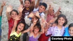 Hələbdəki etnik türkmən uşaqlar, arxiv fotosu
