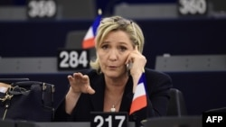 Лидер «Национального фронта» Франции Марин Ле Пен.