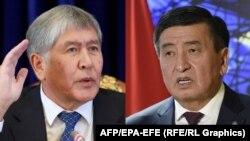 Алмазбек Атамбаев (слева) и Сооронбай Жээнбеков.