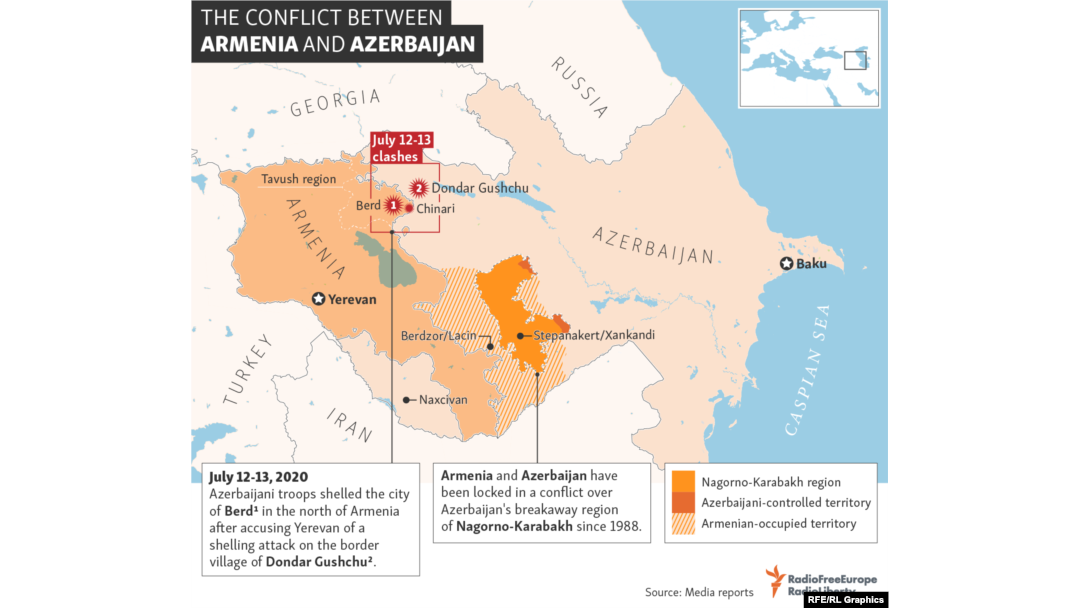 Fighting Resumes On Armenian Azerbaijani Border After Brief Lull