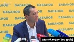 Омурбек Бабанов. 16 октября 2017 года.
