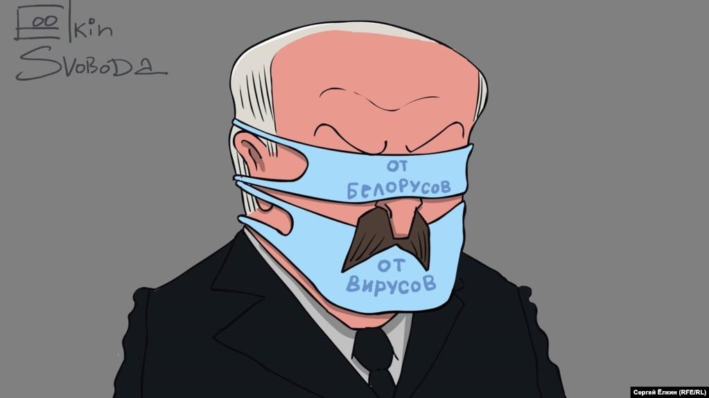 Президент Білорусі Олександр Лукашенко очимахудожника Сергія Йолкіна