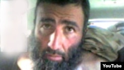 A capture from a video that reportedly shows Tajik fighter Alovuddin Davlatov