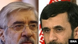 The election debate between President Mahmud Ahmadinejad (right) and Mir Hossein Musavi was watched by millions.