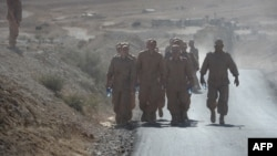 Российские военнослужащие в окрестностях Пальмиры