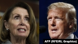 Spiker Nancy Pelosi və prezident Donald Trump