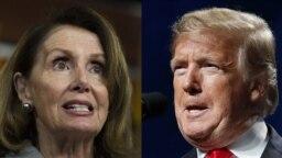 Spiker Nancy Pelosi və prezident Donald Trump