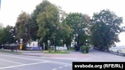 На скрыжаваньні вуліц Давыда Гарадзенскага і Замкавай