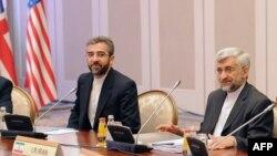 Келіссөздерге қатысып отырған Иран делегациясының өкілдері. Алматы, 5 сәуір 2013 жыл.