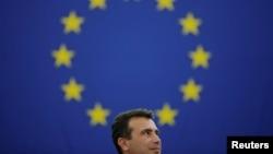Zoran Zaev u obraćanju evroparlamentarcima, Brisel