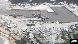 Pamje të shkatërrimit në Bahamas.