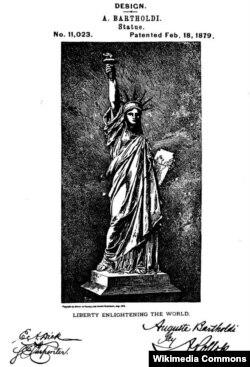 Патент Фредерика Августа Бартольди на сооружение Статуи Свободы, 1879