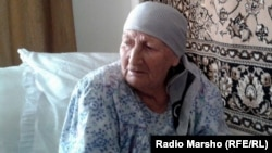 Chechnya --Grandmama Aminat-Adelje, Chechen-German woman, 80 old year