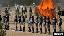 Pakistan polisi təlimlərdə
