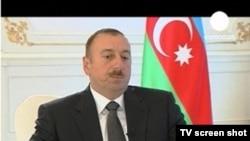 Президент Азербайджана Ильхам Алиев дает интервью Euronews