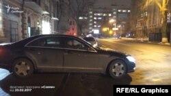 Авто Грановського біля СБУ, коли там перебував Порошенко