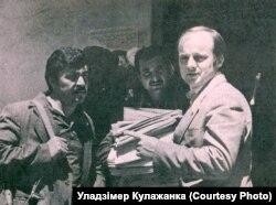 Генадзь Кулажанка зь перакладчыкамі