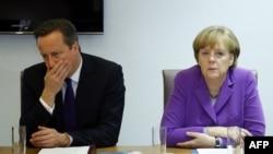 Британскиот премиер Дејвид Камерон и германскиот канцелар Ангела Меркел