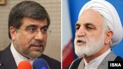 غلامحسین محسنی اژهای (راست) و علی جنتی.