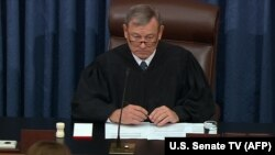 Președintele Curții Supreme din Statele Unite, John Roberts , Washington, 28 ianuarie 2020.
