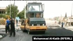 سقلتة شوارع حي النهروان في الموصل