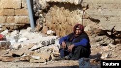 Разбомбленный дом в городе Дарат-Ица, провинция Алеппо (Сирия, 28 февраля 2016 года)