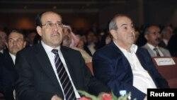 المالكي وعلاوي في جلسة لمجلس النواب العراقي في 11 تشرين ثاني 2011