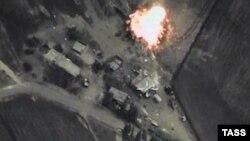 Бомбардировка Сирии. Кадр съемки Министерства обороны России