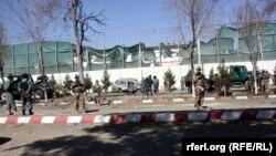 Жарылуу болгон жер. Кабул, 16-сентябрь, 2014-жыл.