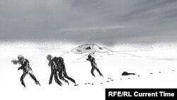 2 гыйнвар төнендә Оренбур-Орски юлында көрт арасында бикләнеп калган кешеләр сәгатьләр буе ярдәм көтеп яткан.