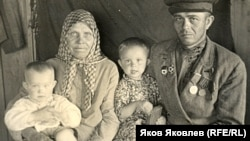 Семья колхозников. Сургутский район. 1945 год