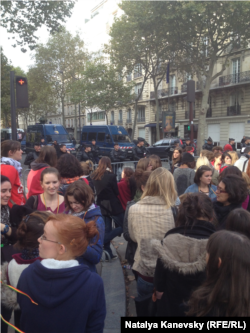 Протесты 17 октября в Париже