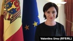 Премьер-министр Республики Молдова Майя Санду, Кишинев, 23 августа 2019 г.