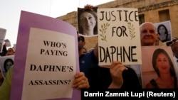 Protestë për ndriçimin e vrasjes së gazetares, Daphne Caruana Galizia.