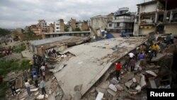 Жер сілкінісінен соң. Катманду, Непал, 25 сәуір 2015 жыл.