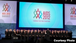 The Gay Men's Chorus of Washington performed at the opening of the International AIDS Conference on July 22.