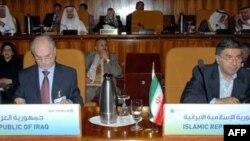 کاظم پور اردبیلی به همراه وزیر نفت عراق در نشست وزیران اعضای اوپک در ریاض