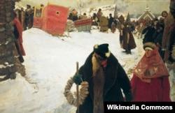 Сергей Иванов. Приезд иностранцев в Москву XVII столетия. 1901