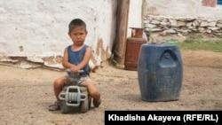 Ребенок в населенном пункте Балта-Тарак. Восточно-Казахстанская область. 9 июня 2020 года.