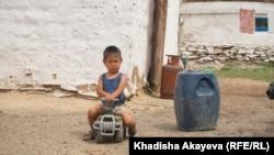 Ребенок в населенном пункте Балта-Тарак. Восточно-Казахстанская область, 9 июня 2020 года.