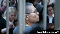 Former Russian former Economy Minister Aleksei Ulyukayev at his Moscow court hearing on December 15.