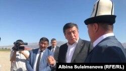 Президент Сооронбай Жээнбеков Таласка ушул аптада барган.
