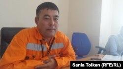 Председатель профсоюза работников морской базы Баутино Сайлау Бастаев.